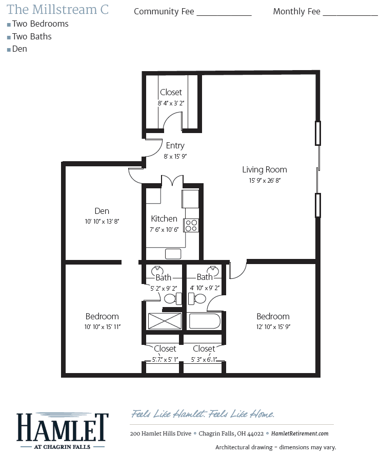Millstream C Floor Plan