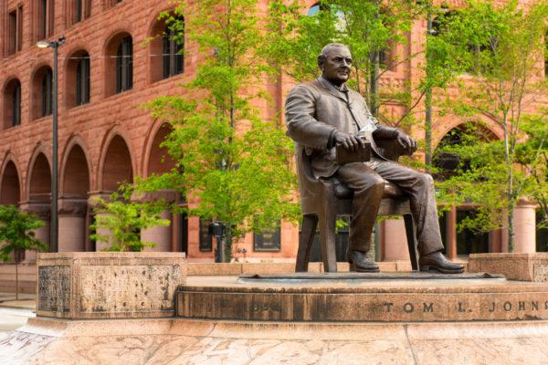 Tom L. Johnson Statue at Public Square